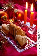 Купить «christmas xmas pastry candle biscuit», фото № 8269145, снято 21 июля 2018 г. (c) PantherMedia / Фотобанк Лори