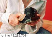 Купить «Shoe Care», фото № 8283709, снято 6 марта 2004 г. (c) Caro Photoagency / Фотобанк Лори