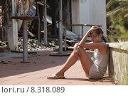 Купить «woman accident calamity brandstelle site», фото № 8318089, снято 23 сентября 2018 г. (c) PantherMedia / Фотобанк Лори