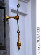 Купить «hand door bell brass pull», фото № 8324033, снято 4 декабря 2019 г. (c) PantherMedia / Фотобанк Лори