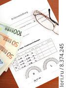 Купить «glasses eyeglasses spectacles certificate ordinance», фото № 8374245, снято 24 марта 2019 г. (c) PantherMedia / Фотобанк Лори