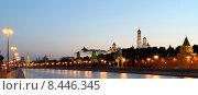 Купить «Вечерняя Москва, вид на набережную и Кремль», фото № 8446345, снято 26 июля 2015 г. (c) Владимир Журавлев / Фотобанк Лори