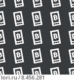 Купить «Straight black bitcoin screen pattern», иллюстрация № 8456281 (c) Иван Рябоконь / Фотобанк Лори