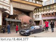 "Грузинский ресторан ""Генацвале"" на Арбате в Москве, эксклюзивное фото № 8464377, снято 10 апреля 2015 г. (c) Константин Косов / Фотобанк Лори"