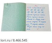 Купить «Тетрадь по чистописанию учащегося 1 класса в ноябре 1965 года», эксклюзивное фото № 8466545, снято 30 марта 2012 г. (c) Алёшина Оксана / Фотобанк Лори