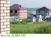 Строительство частных домов из кирпича и блока. Стоковое фото, фотограф Наталья Белых / Фотобанк Лори