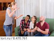 Купить «friends hanging out with beer and jokes», фото № 8470761, снято 17 октября 2018 г. (c) Яков Филимонов / Фотобанк Лори