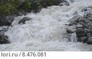Купить «Горная бурлящая река», эксклюзивный видеоролик № 8476081, снято 30 июля 2015 г. (c) Алексей Бок / Фотобанк Лори