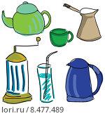 Купить «Чайники и кофейники», иллюстрация № 8477489 (c) Кирилл Черезов / Фотобанк Лори