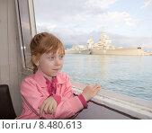 Купить «Портрет рыжеволосой девочки на фоне моря», фото № 8480613, снято 9 мая 2015 г. (c) Олег Хархан / Фотобанк Лори