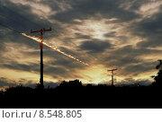 Купить «Воспламенение на проводах», фото № 8548805, снято 20 февраля 2019 г. (c) PantherMedia / Фотобанк Лори
