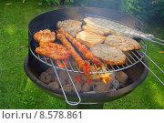Купить «fish meat barbecue grill barbeque», фото № 8578861, снято 16 июля 2019 г. (c) PantherMedia / Фотобанк Лори