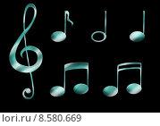 Купить «music notes clef treble sign», фото № 8580669, снято 26 июня 2019 г. (c) PantherMedia / Фотобанк Лори