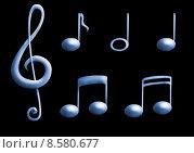 Купить «music notes clef treble sign», фото № 8580677, снято 26 июня 2019 г. (c) PantherMedia / Фотобанк Лори