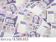 Купить «Czech money thousand», фото № 8589653, снято 16 июня 2019 г. (c) PantherMedia / Фотобанк Лори