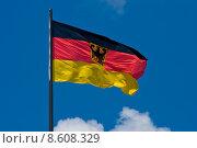 Купить «flag wind germany german federal», фото № 8608329, снято 19 марта 2019 г. (c) PantherMedia / Фотобанк Лори