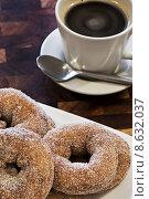 Купить «Donuts and Coffee», фото № 8632037, снято 2 января 2018 г. (c) PantherMedia / Фотобанк Лори