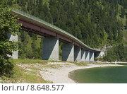 Купить «bridge on sylvensteinspeicher in bavaria», фото № 8648577, снято 23 марта 2019 г. (c) PantherMedia / Фотобанк Лори