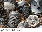 Купить «face wood africa souvenir masks», фото № 8685253, снято 16 июня 2019 г. (c) PantherMedia / Фотобанк Лори