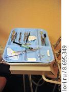 Купить «Dental Tools An A Table», фото № 8695349, снято 21 апреля 2019 г. (c) PantherMedia / Фотобанк Лори