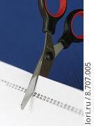 Купить «paper cut tool scissors count», фото № 8707005, снято 17 августа 2018 г. (c) PantherMedia / Фотобанк Лори