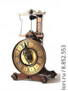 Купить «wheel clock roman digit dial», фото № 8852553, снято 23 марта 2019 г. (c) PantherMedia / Фотобанк Лори