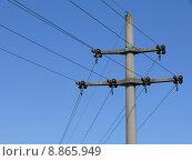 Купить «mast traverse betonmast current energy», фото № 8865949, снято 23 мая 2019 г. (c) PantherMedia / Фотобанк Лори