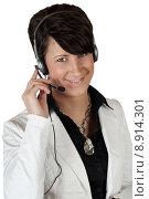 Купить «woman attractive pretty friendly headphones», фото № 8914301, снято 23 марта 2019 г. (c) PantherMedia / Фотобанк Лори