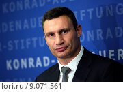 Купить «Berlin, Germany, Vitali Klitschko, UDAR, Mayor of Kiev», фото № 9071561, снято 12 сентября 2014 г. (c) Caro Photoagency / Фотобанк Лори