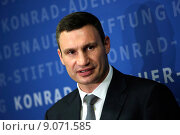 Купить «Berlin, Germany, Vitali Klitschko, UDAR, Mayor of Kiev», фото № 9071585, снято 12 сентября 2014 г. (c) Caro Photoagency / Фотобанк Лори