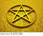 Купить «symbol sign 3d gold religion», фото № 9075765, снято 19 марта 2019 г. (c) PantherMedia / Фотобанк Лори
