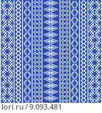 Купить «Blue ethnic texture with white elements», иллюстрация № 9093481 (c) PantherMedia / Фотобанк Лори