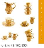 Купить «porcelain set», фото № 9162853, снято 19 июня 2019 г. (c) PantherMedia / Фотобанк Лори