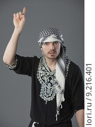 Купить «angry palestinian showing finger», фото № 9216401, снято 26 июня 2019 г. (c) PantherMedia / Фотобанк Лори