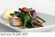 Grilled Tuna Steak with Vegetables. Стоковое фото, фотограф Phillip Minnis / PantherMedia / Фотобанк Лори