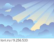 Купить «Cloudy sky background 2», иллюстрация № 9256533 (c) PantherMedia / Фотобанк Лори