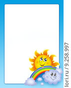Купить «Frame with Sun and cloud», иллюстрация № 9258997 (c) PantherMedia / Фотобанк Лори