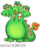 Купить «Green three headed dragon», иллюстрация № 9260113 (c) PantherMedia / Фотобанк Лори