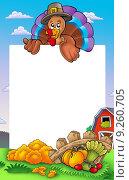 Купить «Thanksgiving frame with turkey 2», иллюстрация № 9260705 (c) PantherMedia / Фотобанк Лори