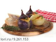 Купить «cheese onion stuffed fillet scallions», фото № 9261153, снято 25 марта 2019 г. (c) PantherMedia / Фотобанк Лори