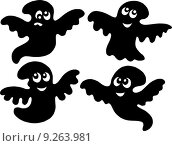 Купить «Cute ghost silhouettes», иллюстрация № 9263981 (c) PantherMedia / Фотобанк Лори