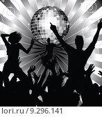 Купить «Young people dancing at the disco», фото № 9296141, снято 15 ноября 2018 г. (c) PantherMedia / Фотобанк Лори