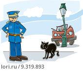 Купить «Black cat curse», иллюстрация № 9319893 (c) PantherMedia / Фотобанк Лори