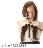 Купить «Armed woman», фото № 9366621, снято 23 июля 2019 г. (c) PantherMedia / Фотобанк Лори