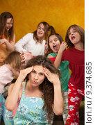 Купить «Little Girls Misbehave», фото № 9374685, снято 28 мая 2020 г. (c) PantherMedia / Фотобанк Лори