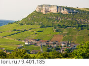 Купить «environment of La Roche de Solutré with vineyards, Burgundy, France», фото № 9401185, снято 19 сентября 2019 г. (c) PantherMedia / Фотобанк Лори