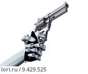 Купить «Illustration of a robot pointing a deadly handgun», фото № 9429525, снято 26 мая 2020 г. (c) PantherMedia / Фотобанк Лори