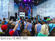 Купить «Празднование Дня ВДВ в Парке Горького, Москва, 2015», эксклюзивное фото № 9447161, снято 2 августа 2015 г. (c) lana1501 / Фотобанк Лори