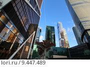 Небоскребы современного бизнес-центра Москва-сити (2015 год). Редакционное фото, фотограф demon15 / Фотобанк Лори