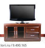 Купить «Modern television on wooden cabinet», фото № 9490165, снято 27 мая 2019 г. (c) PantherMedia / Фотобанк Лори